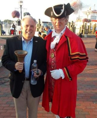 Squire Frederick with Maryland Governor Larry Hogan