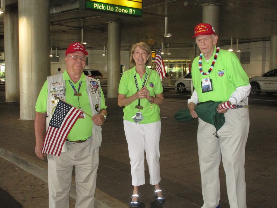 IMG_1982 Honor Flight volunteers at BWI